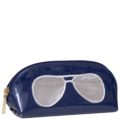 Sunglasses Case-Navy with Silver Aviators copy
