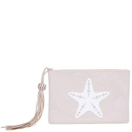 Blush Margaret Clutch with White Starfish